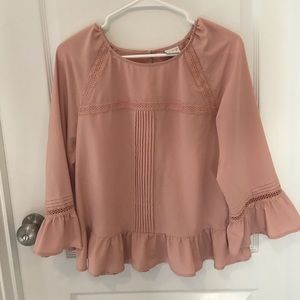 a new day light pink blouse, xs
